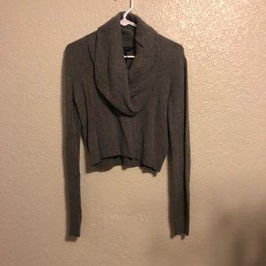 BCBG Maxazria Grey cropped sweater